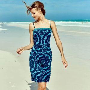 Boden Amber Dress blue floral day 10R
